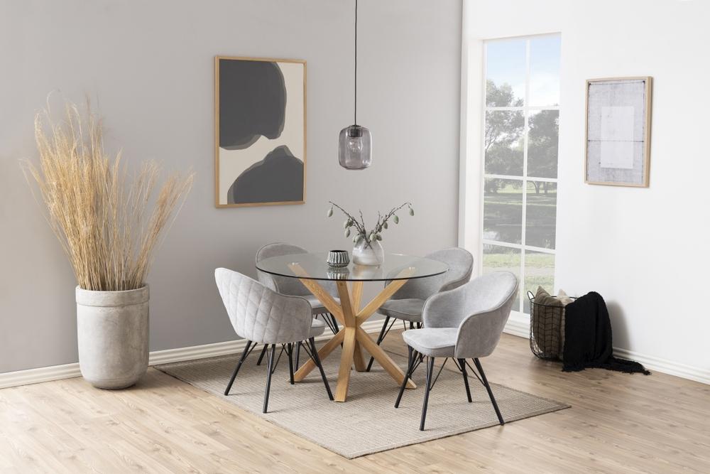 Dkton Okrúhly jedálenský stôl Neele 119 cm sklo