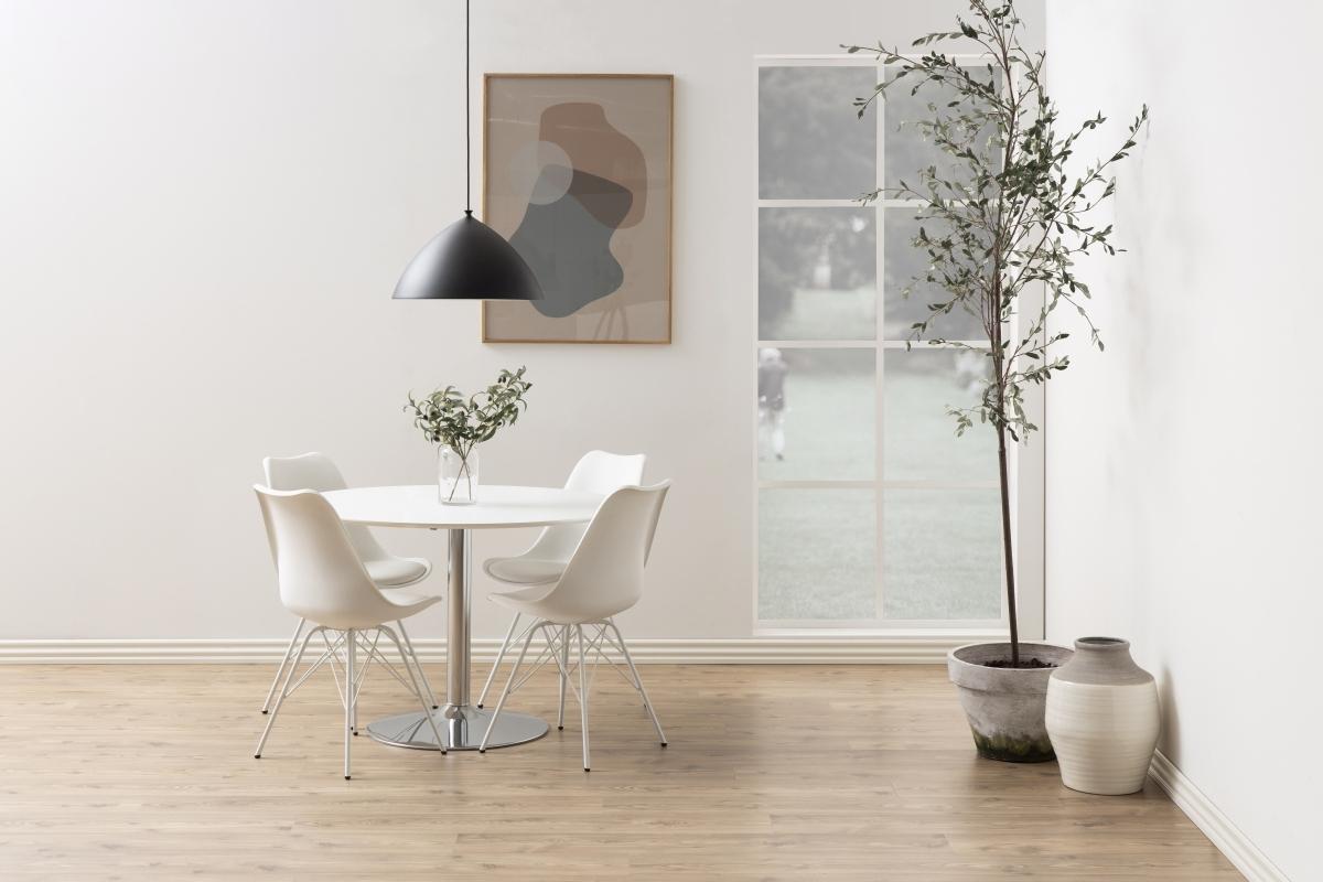 Dkton Okrúhly jedálenský stôl Neesha 110 cm biely