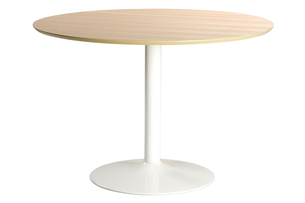 Dkton Okrúhly jedálenský stôl Neesha 110 cm dub