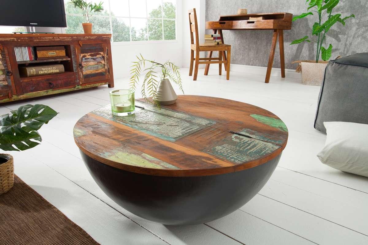 LuxD Okrúhly konferenčný stolík Jacktar 70cm sivý