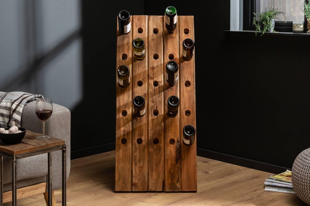 LuxD Regál na víno Lyric 107 cm recyklované drevo