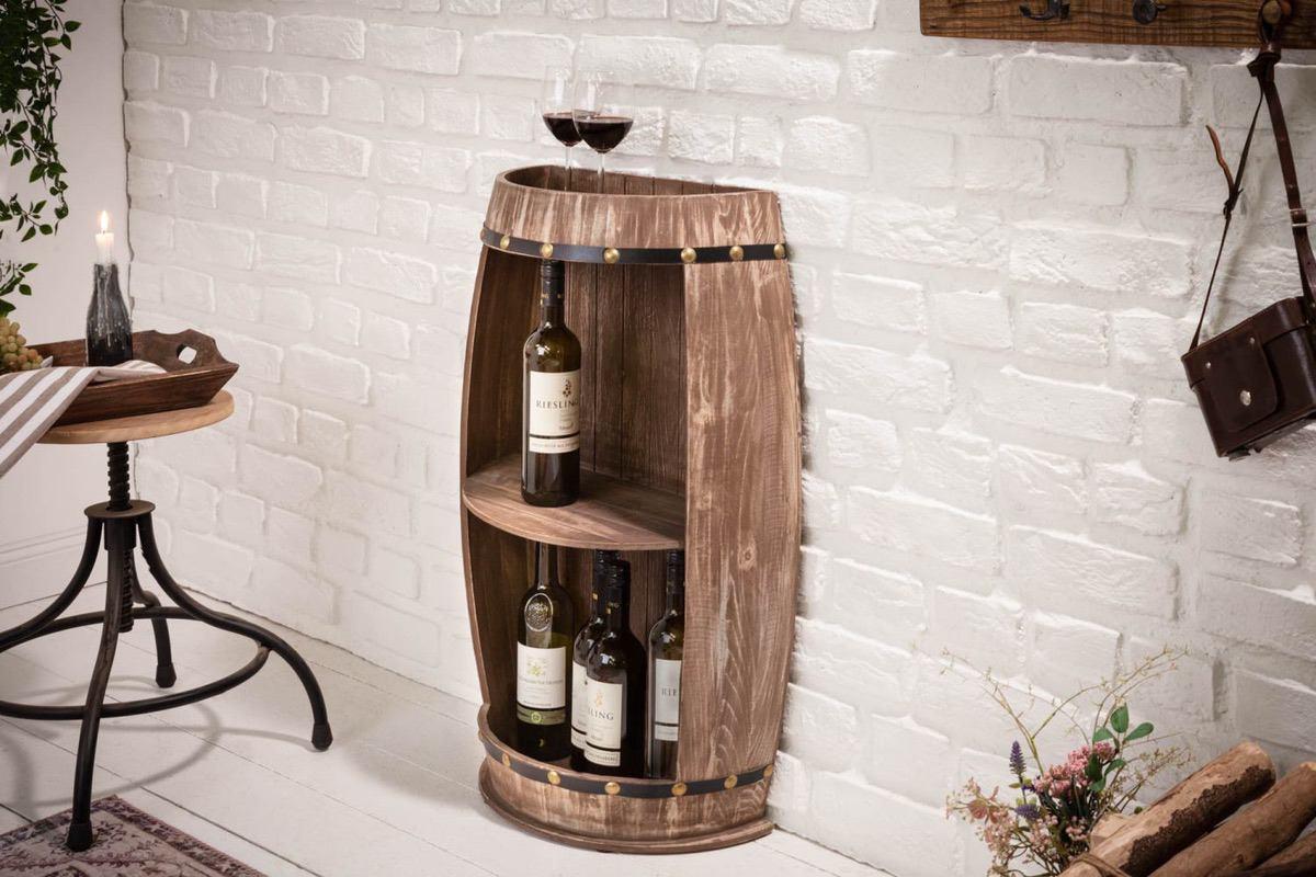 LuxD Regál na víno Winebar 79 cm prírodný