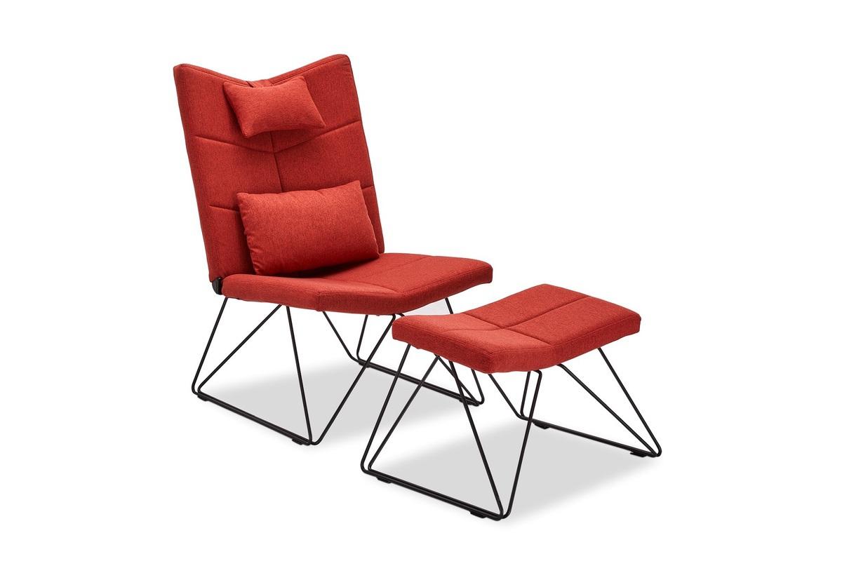 Furnistore Relaxačné kreslo Abbott, červené - Otvorené balenie - RP