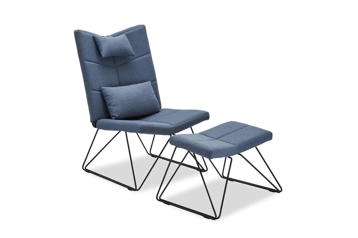 Furnistore Relaxačné kreslo Abbott, modré
