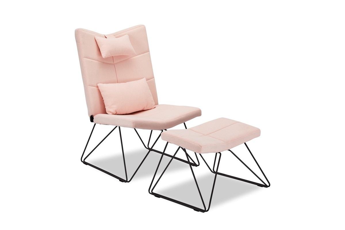 Furnistore Relaxačné kreslo Abbott, ružové