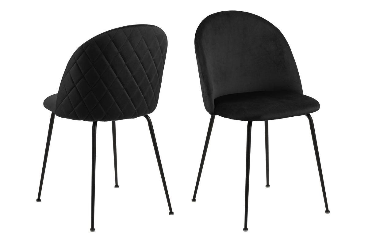 Dkton 23469 Štýlová jedálenská stolička Alexandre, čierna - RP