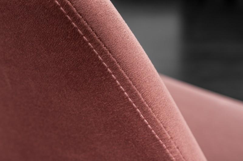 Dizajnová jedálenská stolička Sweden Retro, staroružová / zlatá