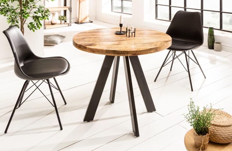 LuxD Okrúhly jedálenský stôl Thunder, 80 cm, mango