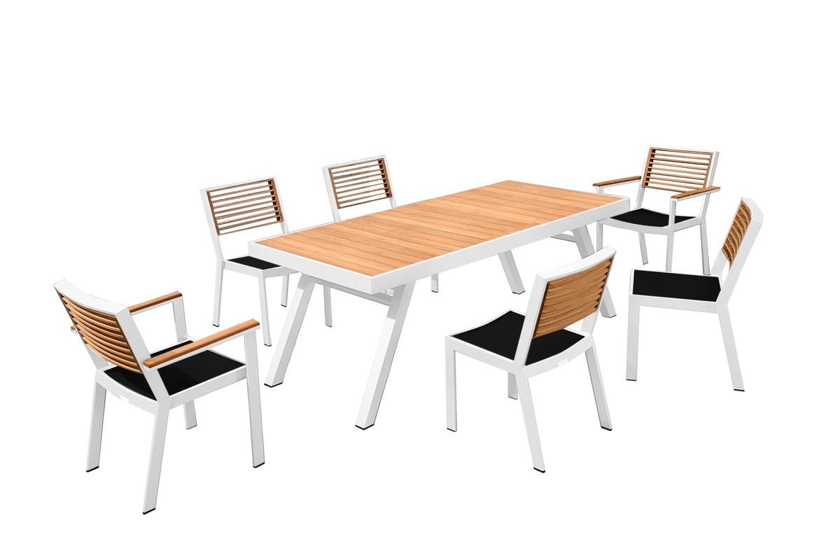 Higold Záhradná jedálenská zostava HIGOLD II - York Dining White/Black